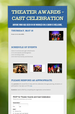 Theater Awards - Cast Celebration