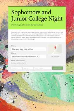 Sophomore and Junior College Night