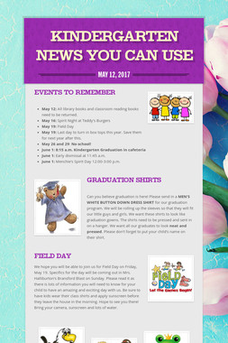 Kindergarten News You Can Use