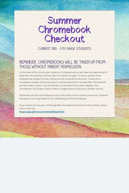 Summer Chromebook Checkout