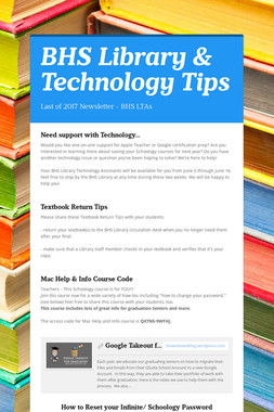 BHS Library & Technology Tips