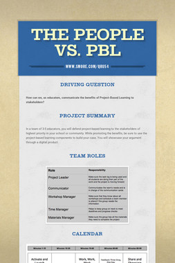 The People vs. PBL