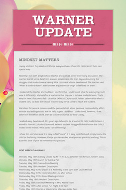 Warner Update