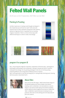 Felted Wall Panels