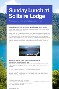 Sunday Lunch at Solitaire Lodge