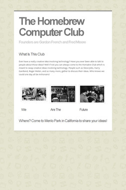 The Homebrew Computer Club