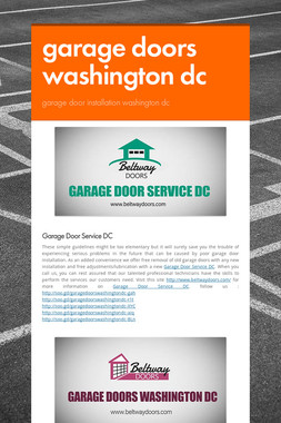 garage doors washington dc