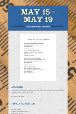 May 15 - May 19