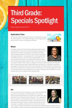Third Grade:    Specials Spotlight