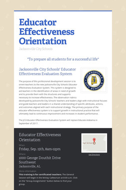 Educator Effectiveness Orientation