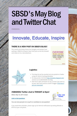 SBSD's May Blog and Twitter Chat