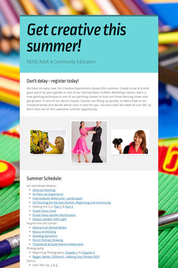 Get creative this summer!