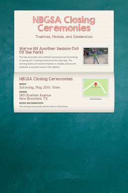 NBGSA Closing Ceremonies