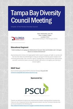Tampa Bay Diversity Council Meeting