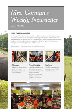 Mrs. Gorman's Weekly Newsletter