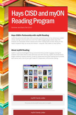Hays CISD and myON Reading Program