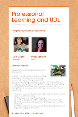 Professional Learning and UDL