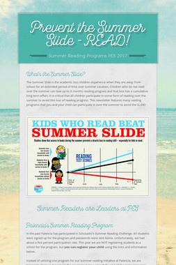 Prevent the Summer Slide - READ!