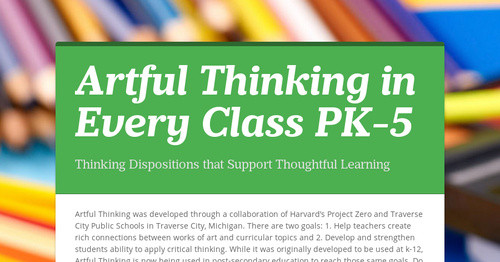 Nice power point intro to  Artful Thinking   Project Zero Harvard     SlideShare