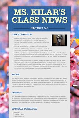 Ms. Kilar's Class News