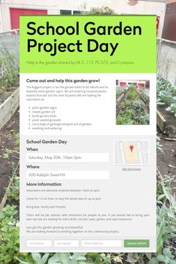School Garden Project Day