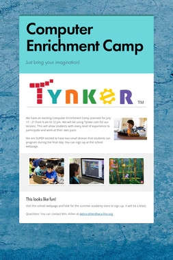Computer Enrichment Camp