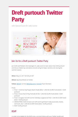 Dreft purtouch Twitter Party