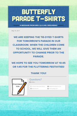 Butterfly Parade T-Shirts