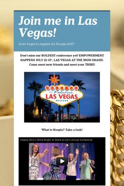 Join me in Las Vegas!