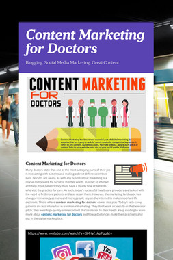 Content Marketing for Doctors