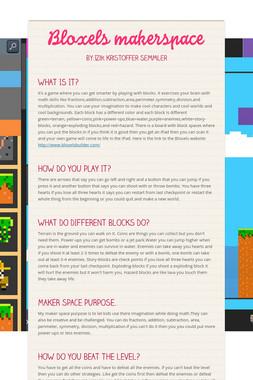 Bloxels makerspace