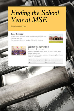 Ending the School Year at MSE