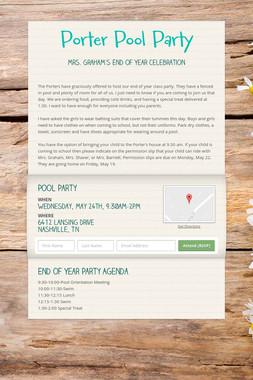 Porter Pool Party