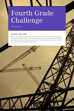 Fourth Grade Challenge