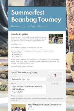 Summerfest Beanbag Tourney
