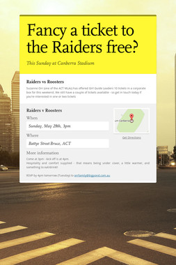 Fancy a ticket to the Raiders free?