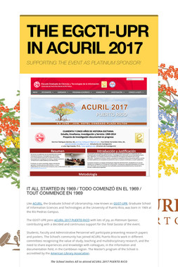 THE EGCTI-UPR IN ACURIL 2017