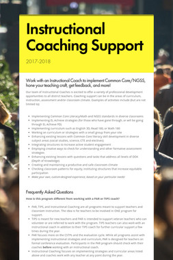 Instructional Coaching Support