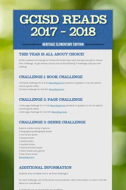 GCISD Reads 2017 - 2018