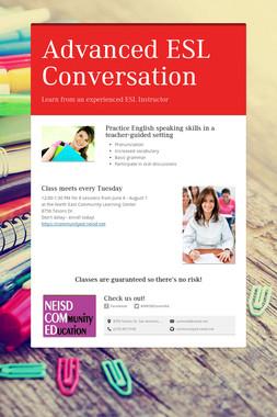 Advanced ESL Conversation