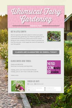 Whimsical Fairy Gardening