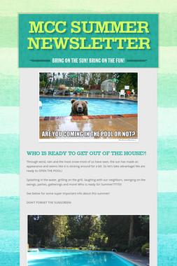 MCC Summer Newsletter