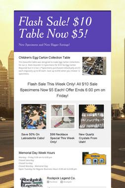 Flash Sale! $10 Table Now $5!