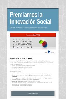 Premiamos la Innovación Social