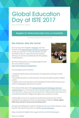 Global Education Day at ISTE 2017