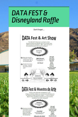 DATA FEST & Disneyland Raffle