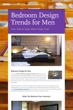 Bedroom Design Trends for Men