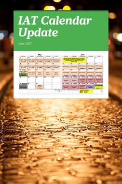 IAT Calendar Update