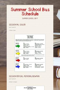Summer School Bus Schedule
