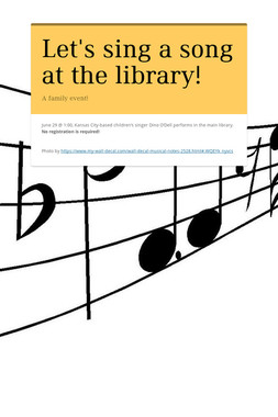 Let's sing a song at the library!
